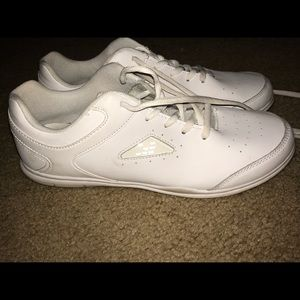 BCG cheerleading white shoes.